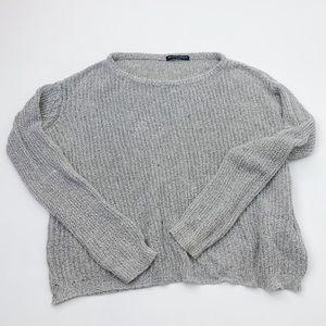 Brandy Melville Grey Crew Neck Pullover Sweater